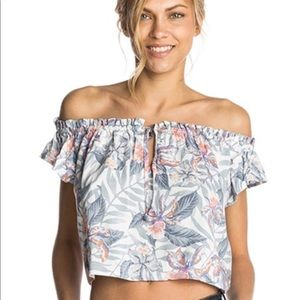 Rip Curl Floral Off the Shoulder Cropped Top